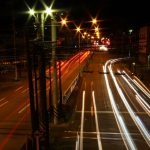 車の光跡写真スポット!旭町横断歩道橋【大牟田夜景写真】